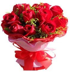 9 adet kirmizi güllerden kipkirmizi buket  Yozgat çiçekçiler