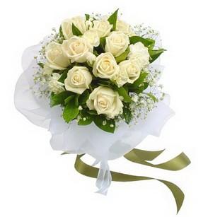 Yozgat online çiçekçi , çiçek siparişi  11 adet benbeyaz güllerden buket