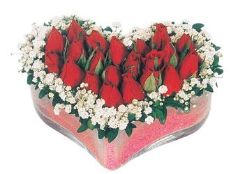 Yozgat çiçekçi telefonları  mika kalpte kirmizi güller 9