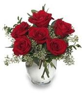 Vazo içerisinde 5 adet kırmızı gül  Yozgat çiçekçi mağazası