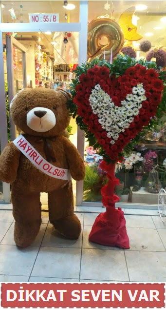 1.5 Metre peluş ayı ve Kalp  Yozgat çiçek gönderme sitemiz güvenlidir
