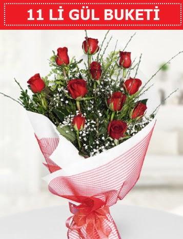 11 adet kırmızı gül buketi Aşk budur  Yozgat çiçek gönderme sitemiz güvenlidir