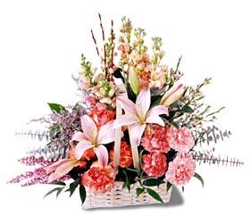 Yozgat çiçek siparişi sitesi  mevsim çiçekleri sepeti özel tanzim