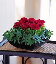 Yozgat çiçek siparişi sitesi  10 adet kare mika yada cam vazoda gül tanzim