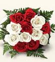Yozgat çiçek , çiçekçi , çiçekçilik  10 adet kirmizi beyaz güller - anneler günü için ideal seçimdir -