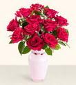 Yozgat hediye çiçek yolla  10 kirmizi gül cam yada mika vazo tanzim