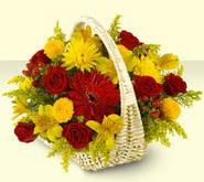 Yozgat 14 şubat sevgililer günü çiçek  sepette mevsim çiçekleri