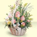 Yozgat 14 şubat sevgililer günü çiçek  sepette pembe güller