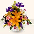 Yozgat 14 şubat sevgililer günü çiçek  sepet içinde karisik çiçekler