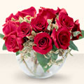 Yozgat çiçek online çiçek siparişi  mika yada cam içerisinde 10 gül - sevenler için ideal seçim -