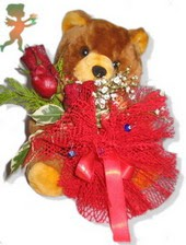 oyuncak ayi ve gül tanzim  Yozgat çiçekçiler