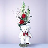 2 adet gül ve panda özel  Yozgat çiçekçi mağazası