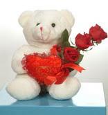 3 adetgül ve oyuncak   Yozgat online çiçekçi , çiçek siparişi