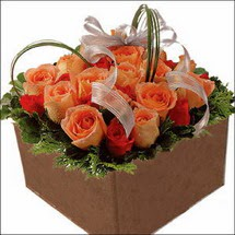 kare sandikta 11 gülllerden   Yozgat çiçekçi mağazası