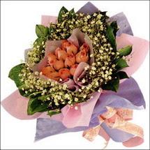 11  adet  gül ve   elyaflar   Yozgat çiçekçi mağazası