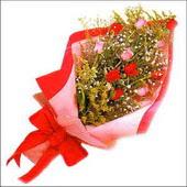12 adet renkli  gül buketi   Yozgat çiçekçi mağazası