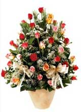 91 adet renkli gül aranjman   Yozgat çiçek gönderme sitemiz güvenlidir