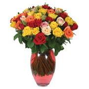 51 adet gül ve kaliteli vazo   Yozgat çiçek gönderme sitemiz güvenlidir