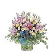 sepette kazablanka ve güller   Yozgat çiçek gönderme