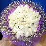 71 adet beyaz gül buketi   Yozgat çiçek , çiçekçi , çiçekçilik
