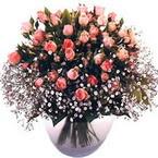 büyük cam fanusta güller   Yozgat çiçek yolla