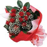 Yozgat internetten çiçek satışı  KIRMIZI AMBALAJ BUKETINDE 12 ADET GÜL