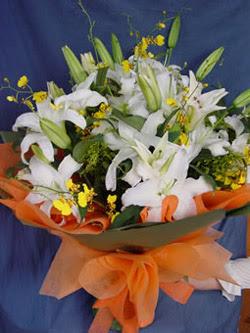 Yozgat internetten çiçek satışı  5 ADET KAZABLANKA BUKETI KALITEDEN SASMAYANLARA