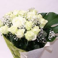 Yozgat hediye çiçek yolla  11 adet sade beyaz gül buketi