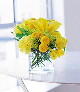 Yozgat ucuz çiçek gönder  sarinin sihri cam içinde görsel sade çiçekler