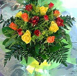 13 adet karisik gül buketi demeti   Yozgat uluslararası çiçek gönderme