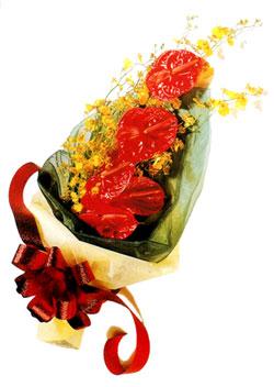 özel 5 adet antorium buketi   Yozgat çiçek gönderme sitemiz güvenlidir