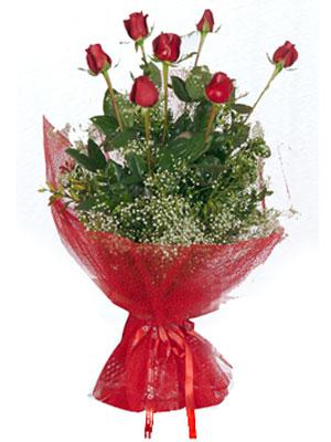 Yozgat çiçek servisi , çiçekçi adresleri  7 adet gülden buket görsel sik sadelik