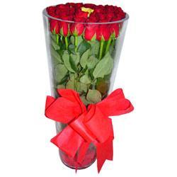 Yozgat çiçek online çiçek siparişi  12 adet kirmizi gül cam yada mika vazo tanzim