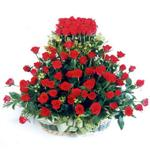Yozgat kaliteli taze ve ucuz çiçekler  41 adet kirmizi gülden sepet tanzimi