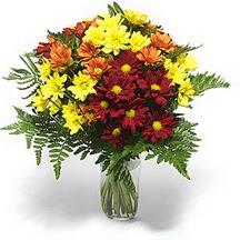 Yozgat çiçek siparişi sitesi  Karisik çiçeklerden mevsim vazosu