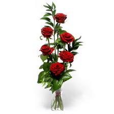 Yozgat uluslararası çiçek gönderme  mika yada cam vazoda 6 adet essiz gül