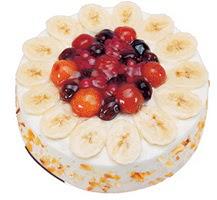 Meyvali 4 ile 6 kisilik yas pasta leziz  Yozgat ucuz çiçek gönder