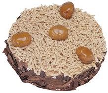 Kestahaneli yas pasta 4 ile 6 kisilik pasta  Yozgat çiçek siparişi sitesi