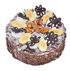 Muzlu çikolatali yas pasta 4 ile 6 kisilik   Yozgat uluslararası çiçek gönderme