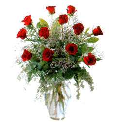 Vazo içerisinde 11 kirmizi gül  Yozgat çiçek siparişi vermek