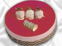 pasta siparisi 4 ile 6 kisilik yas pasta çilekli yaspasta  Yozgat çiçek servisi , çiçekçi adresleri