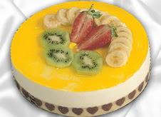 pasta gönderme 4 ile 6 kisilik yas pasta muzlu yaspasta  Yozgat çiçek mağazası , çiçekçi adresleri