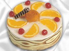 lezzetli pasta satisi 4 ile 6 kisilik yas pasta portakalli pasta  Yozgat çiçekçi mağazası