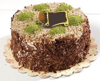 pasta gönderme 4 ile 6 kisilik çikolatali yas pasta  Yozgat çiçek satışı