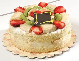 pasta siparisi 4 ile 6 kisilik karisik meyvali yas pasta  Yozgat çiçek servisi , çiçekçi adresleri