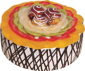 pasta siparisi 4 ile 6 kisilik meyvali yas pasta  Yozgat çiçek satışı