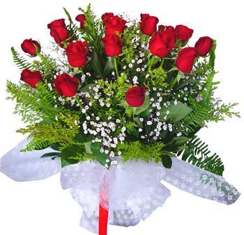 11 adet gösterisli kirmizi gül buketi  Yozgat internetten çiçek satışı