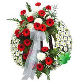 Cenaze çelengi cenaze çiçek modeli  Yozgat uluslararası çiçek gönderme