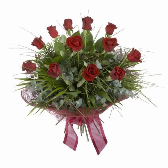 Etkileyici buket 11 adet kirmizi gül buketi  Yozgat internetten çiçek satışı