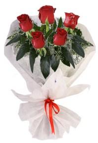 5 adet kirmizi gül buketi  Yozgat çiçekçiler